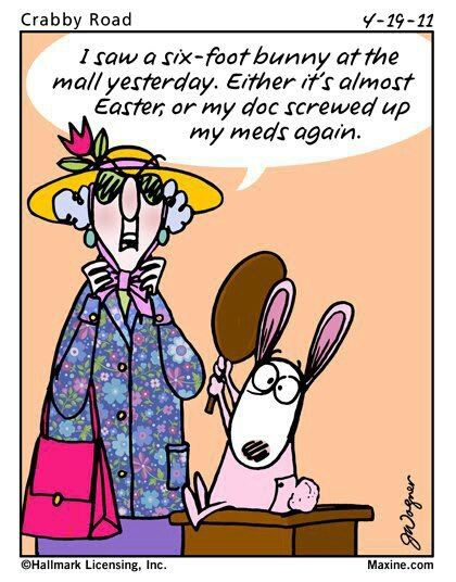 Maxine on Easter Funnies