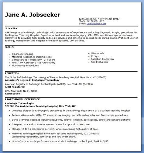 Sample Resume For Radiographer Radiology Technologist Resume Examples Teaching Resume Examples