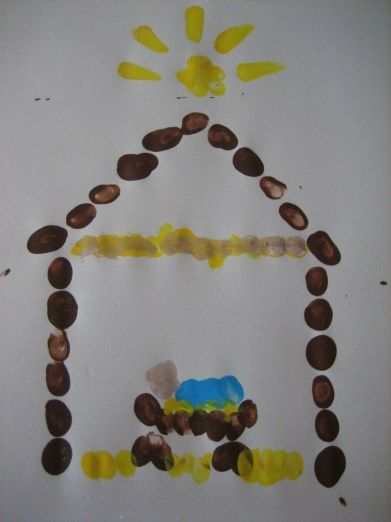 Fingerprint nativity - to help the kids keep in mind what Christmas is about.