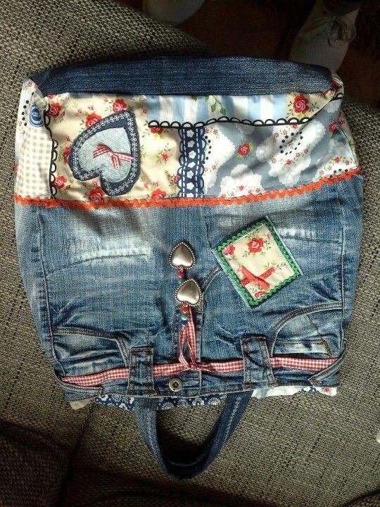 Tas van spijkerbroek