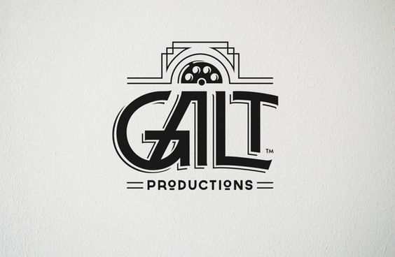 GALT PRODUCTIONS by Tyler Barnes, via Behance