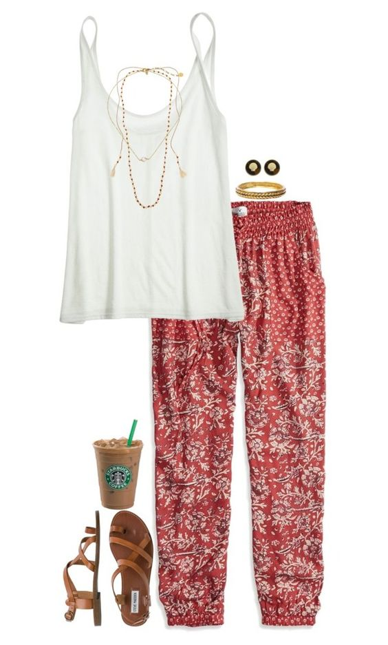 """bohemian preppy"" by sassy-and-southern ❤ liked on Polyvore featuring American Eagle Outfitters, Calypso St. Barth, Chanel, Fornash, Steve Madden, Chan Luu and Majorica:"