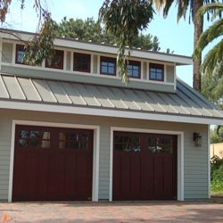 Freestanding garage with loft and drive through garage for Drive through garage door