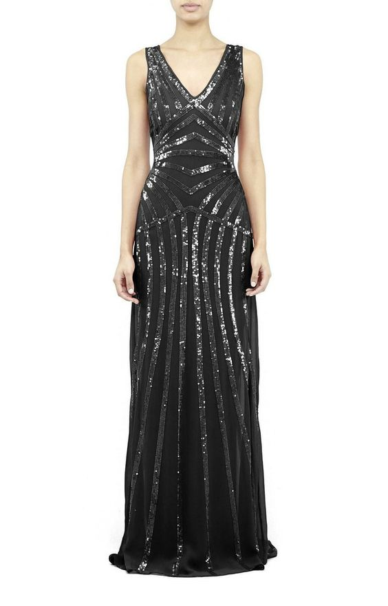 Nicole Miller  Maze Sequin Gown