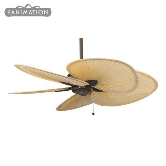 Minka Aire 52 Gauguin Tropical 4 Blade Indoor Outdoor: Fanimation Windpointe Ceiling Fan