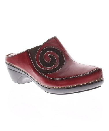This Red Vanessa Leather Clog by L'Artiste by Spring Step is perfect! #zulilyfinds