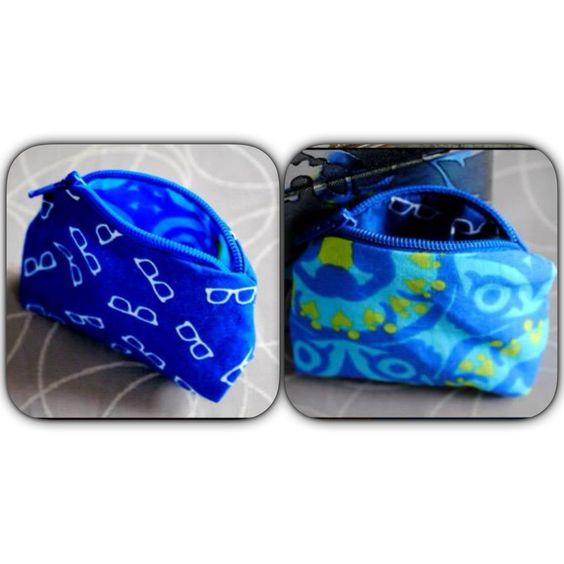 Kleingeld portemonnee veritas action blauw naaisel naais naai naaien handmade Gill