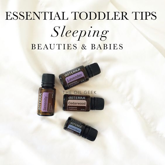 Essential oils for toddlers, essential oils for sleep, nightmares: Sleeping Beauties and Babies: - Apply 3-5 drops Serenity to bedtime bath to soothe and prepare for sleep. - Apply 1 drop each Lavender and Cedarwood to each big toe and massage down the foot. - Sweet dreams blend: Diffuse 2-3 drops each of Serenity, Juniper Berry, Cedarwood for a deep, sweet sleep for babies. Remember Juniper Berry is our superhero against bad dreams, so if your buddy has trouble finding peace, this blend is