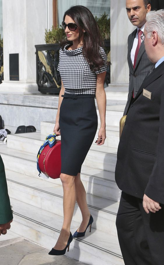 Power Suits from Amal Clooney's Best Looks Clad in Oscar de la Renta, the human rights lawyer got back to business in Athens, Greece.:
