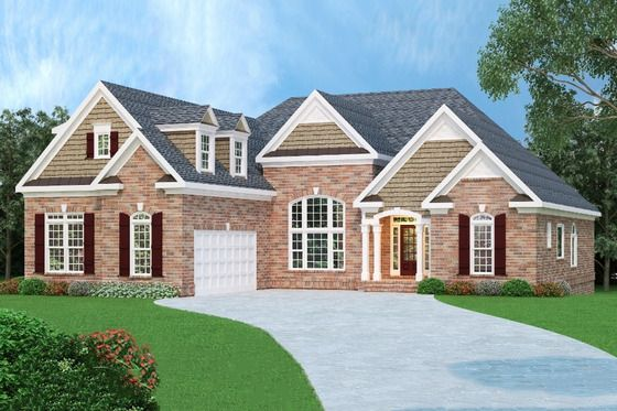Craftsman Style House Plan 3 Beds 2 5 Baths 1853 Sq Ft Plan 419 161 House Plans Ranch Style Home Ranch House Plan