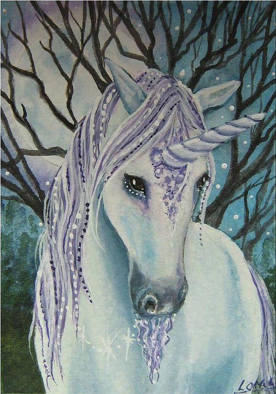 Moonlight by Lisa OMalley * Unicorn Fantasy Myth Mythical Mystical Legend Licorne Enchantment