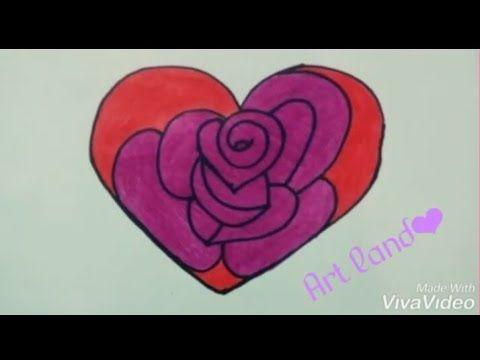 رسم قلب رسم ورد في قلب رسم جب للعيد الحب Heart Drawing Rose In Heart For Valentine S Day Drawing Youtu In 2020 Valentines Day Drawing Easy Drawings Heart Drawing