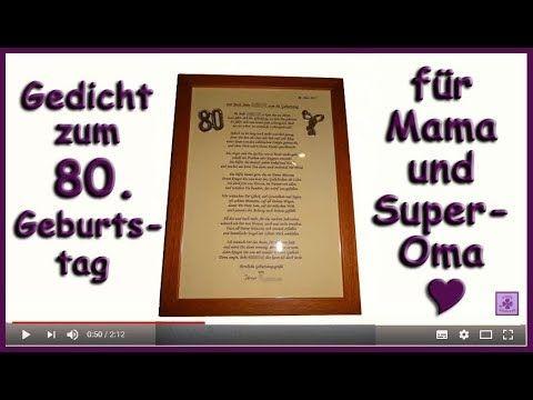 Fg230 Zum 80 Geburtstag Fur Frauen Omas Gedicht