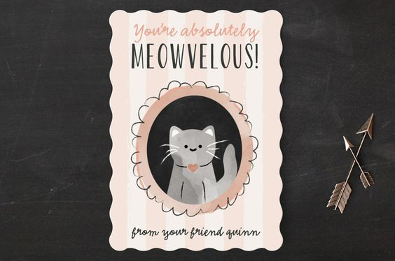 Meow-Velous Classroom Valentine's Day Cards by Chryssi Tsoupanarias at minted.com