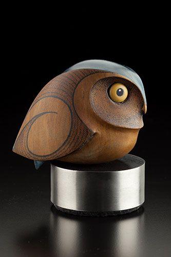 Little Owl by Rex Homan, Māori artist (KR150503):