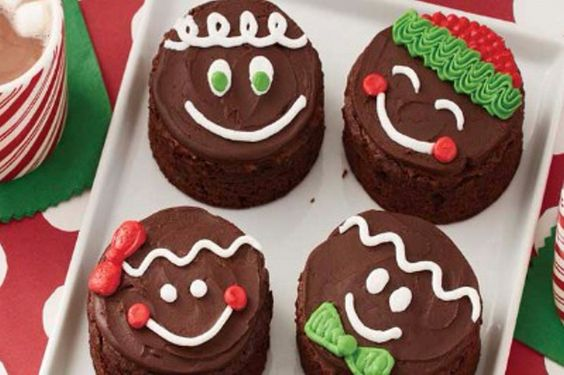 Kids' Gingerbread Make-A-Face Brownies #Kids #Events