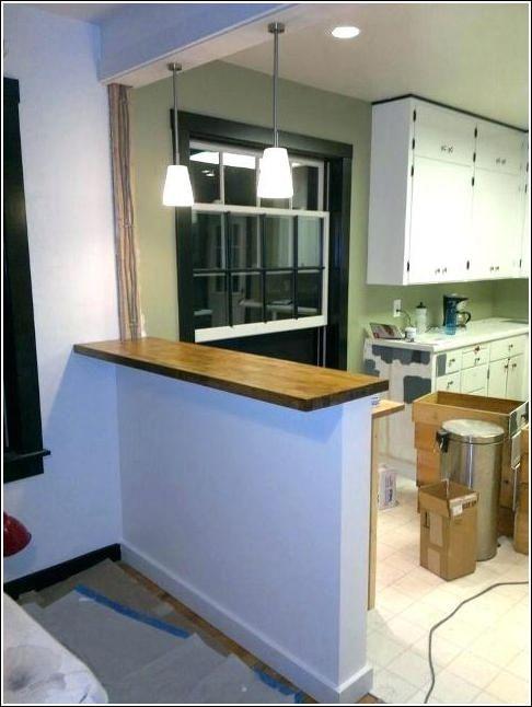 Half Wall Between Living Room And Kitchen Half Wall Room Divider Kitchen Room Kitchen Bar