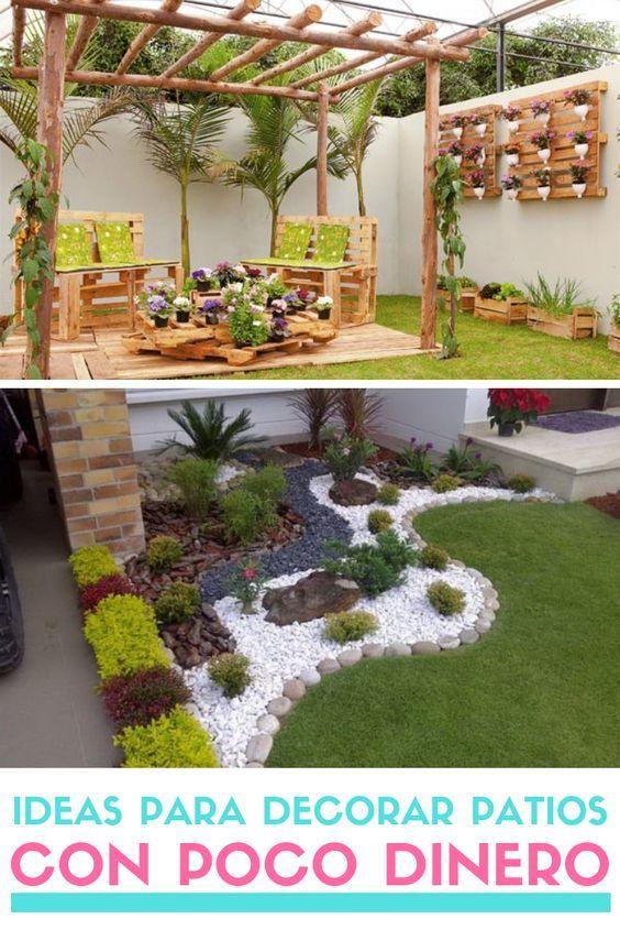 Ideas Para Decorar Patios Con Poco Dinero Decoracion Low Cost En 2020 Maceteros De Jardin Ideas De Jardineria Paisajismo De Patio