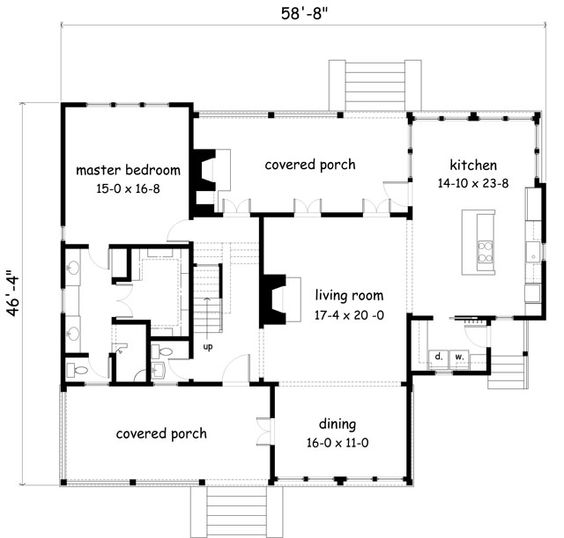 Fabulous floor plan southern living house plans for House plans with guest suite