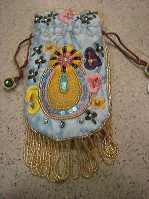 NWT BEAUTIFUL BLUE SATIN EMBROIDERED CELL PHONE MP3 IPOD JEWERLEY PURSE BAG  https://t.co/jQgose2j83 https://t.co/zusXURp6SX