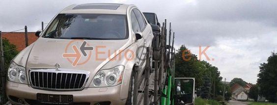 Die KfZ-Überführung von Maybach 57 von Deutschland nach Moskau, Russland per einen offenen Autotransporter - EuroGUS e.K. Internationale Spedition