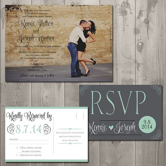 wedding invitations set or printed wedding invitations and rsvp card