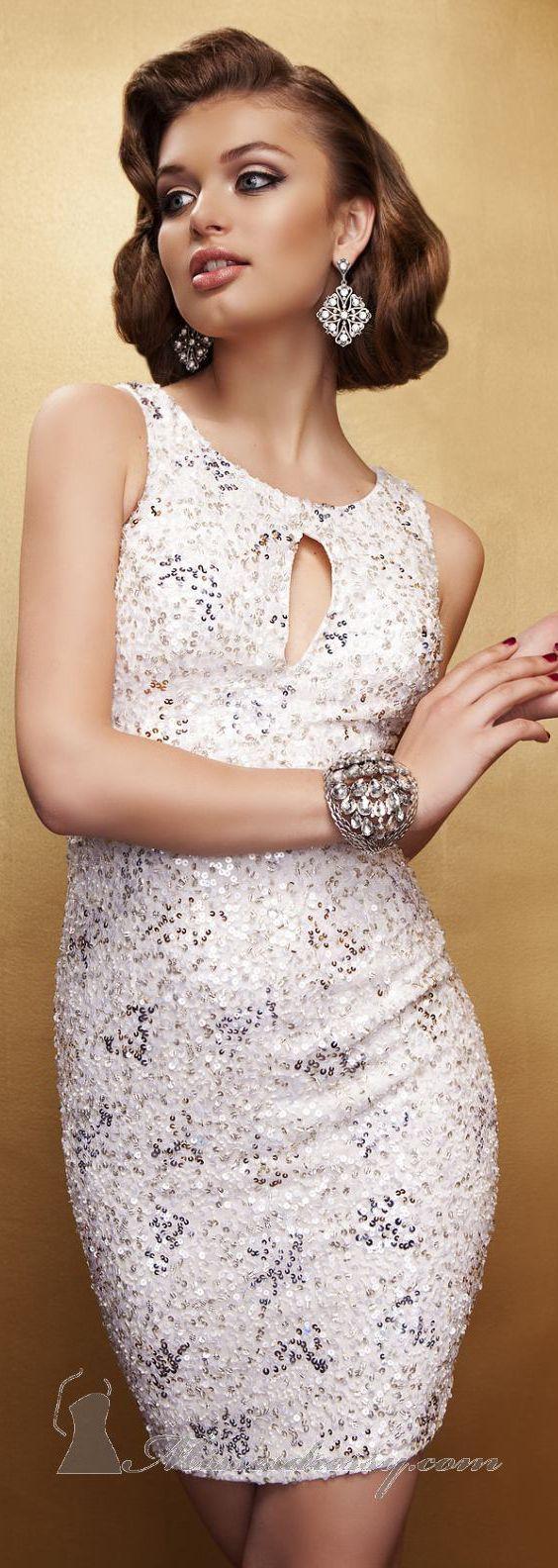 Keyhole Mini-Dress by Scala Couture