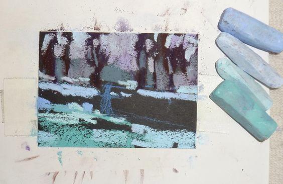 Painting my World: Mini Demo: Pastel on Black Artagain Paper