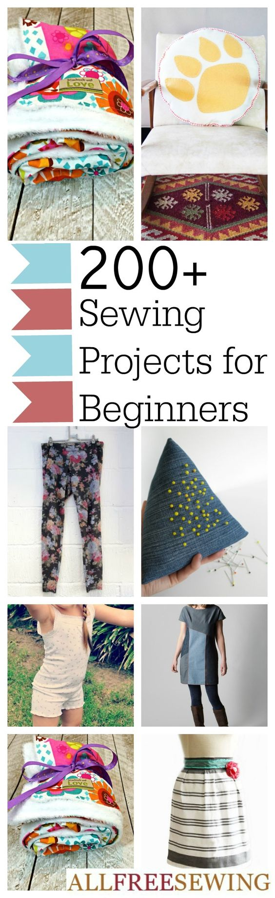200+ DIY Sewing Projects for Beginners by the Minute | AllFreeSewing.com: