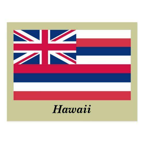 Hawaii State Flag Postcard Zazzle Com Hawaii State Flag State Flags Flag