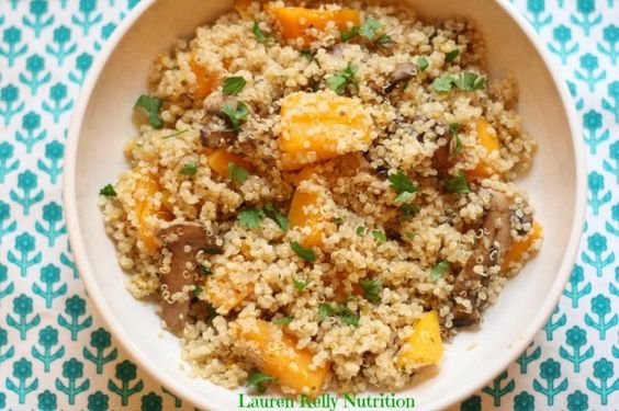 Mushroom and Squash Quinoa Risotto | Lauren Kelly Nutrition
