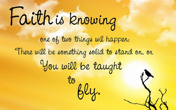 faith is knowing...