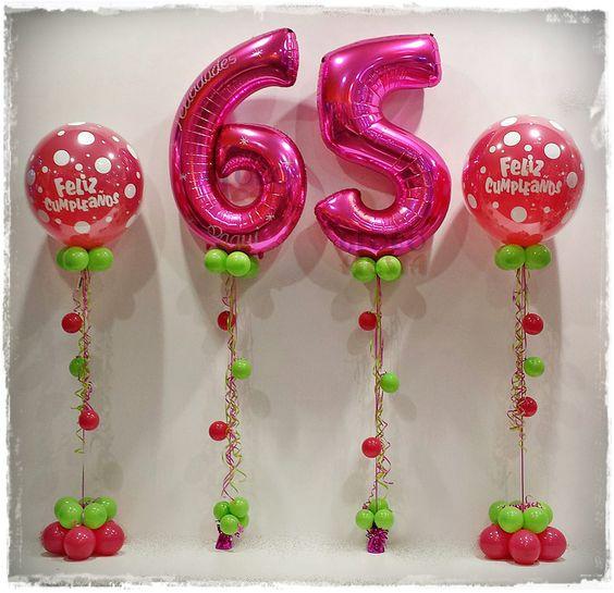 65 cumplea os con globos - Globos de cumpleanos ...
