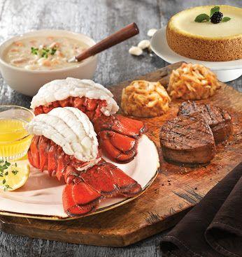 Share On Google Lobster Gram Filet Mignon Steak Crab Cakes