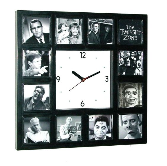 BIG The Twilight Zone Clock with classic episode scenes