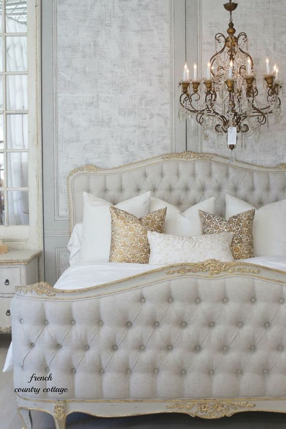 Sophia bed. French Country Cottage. Swedish decor inspiration, French and Gustavian Design Style from Eloquence. #swedish #interiordesign #frenchcountry #gustavian #nordic #decoratingideas #whitedecor #eloquence #furniture