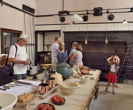 The Kitchen in Lanhydrock House, Cornwall