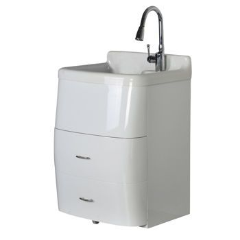 Utility Sink Canada : - Deluxe Utility Sink and Storage Cabinet Costco ~$500 laundry ...