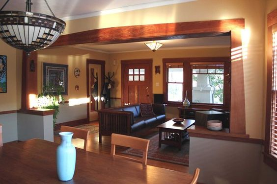 bungalows craftsman style bungalow and bungalow interiors on pinterest. Black Bedroom Furniture Sets. Home Design Ideas