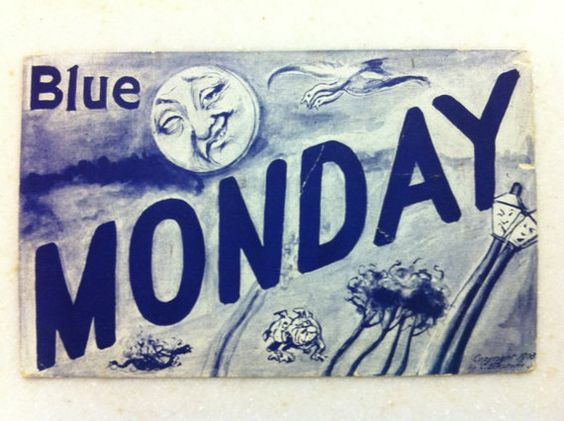 Blue Monday~~~~~~~~Thank You to Teamvintageusa by Sherry on Etsy