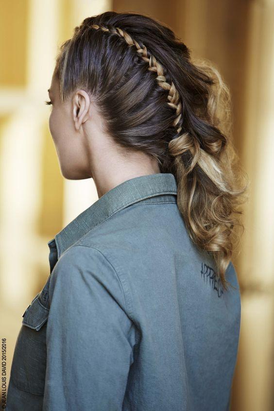 jean louis david long brown straight hair styles - Coloration Gloss Jean Louis David