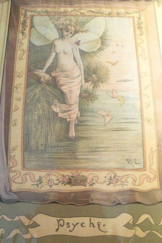 Print Psyche Art Nouveau Lithograph Stunning by AntiquesandVaria, $184.20