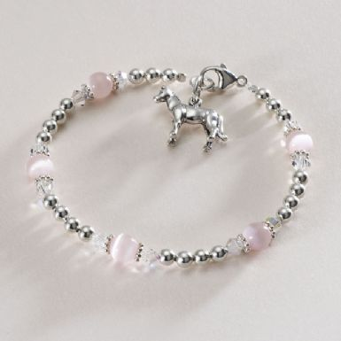 HORSE/PONY CHARM BRACELET WITH CATS EYES AND SILVER http://www.jewels4girls.net/horsepony-charm-bracelet-with-cats-eyes-and-silver-1332-p.asp