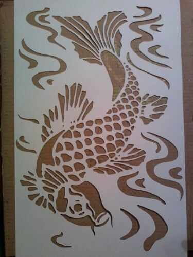 Pinterest the world s catalog of ideas for Koi fish stencil