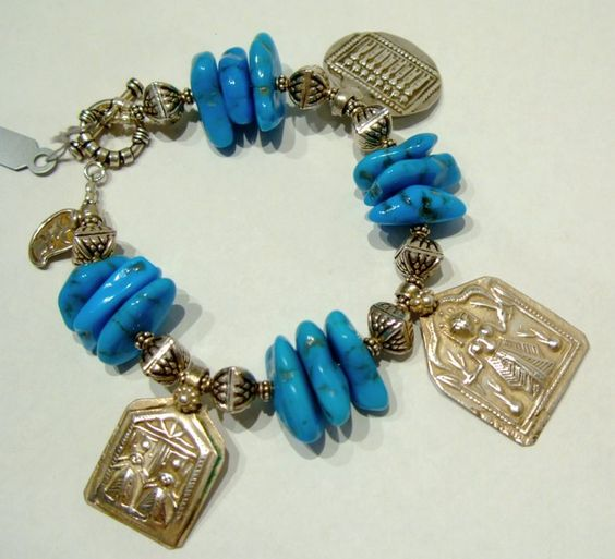 Turqoise charm bracelet IN0073