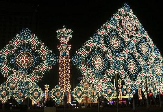 Wall of Christmas Lights, Seoul, South Korea