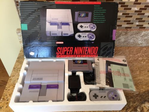 Super Nintendo Entertainment System Snes Console Complete In Box W/ Super Mario  $249.99End Date: Wednesday Oct-5-2016 17:32:17 PDTBuy It Now for only: $249.99Buy It Now | Add to watch list