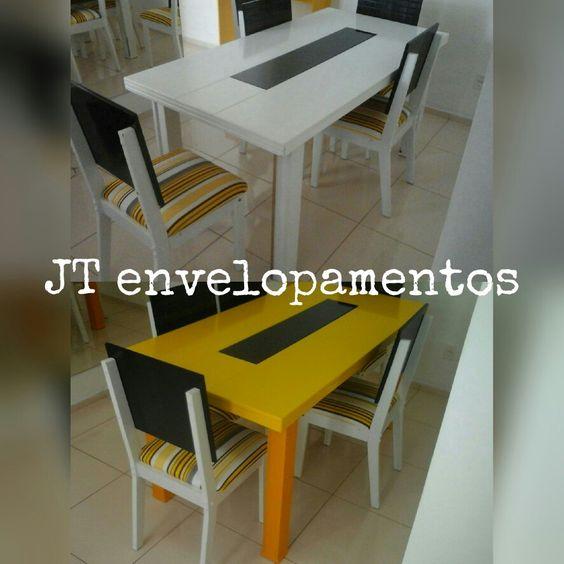 Mesa envelopada , sala de jantar de cara nova.