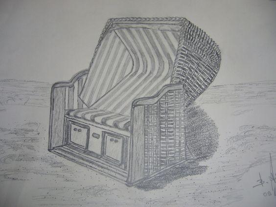 Strandkorb Gezeichnet