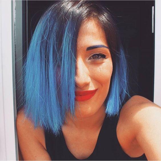 Pelo Balayage, Azul Pastel, Pelo En Colores Pastel, Productos Estilos, Azul Oscuro, Pelo, Blue Balayage, Roots Blue, Hair Shades